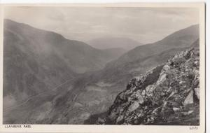 Caernarvonshire; Llanberis Pass RP PPC By Photochrom, Unused, c 1950's