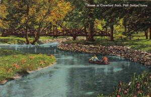 Iowa Fort Dodoge Scene In Crawford Park 1942 Curteich
