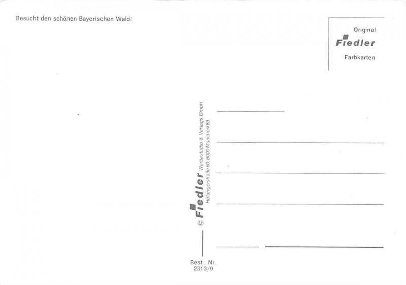 Orientierungskarte Bayerischer Wald, Gasthaus Pension Chairlift Lake Boats