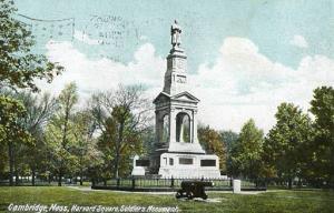 MA - Cambridge, Harvard Square Soldier's Monument