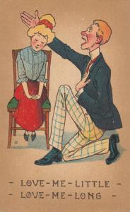 VALENTINE'S, 1900-10s; Man to his girl, Love-Me-Little-Love-Me-Long