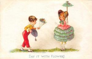 Fantasy Fashion Clothing, Children Say it with Flowers