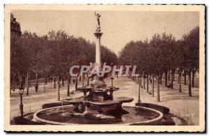 Old Postcard Valencia Boulevard Fontaine