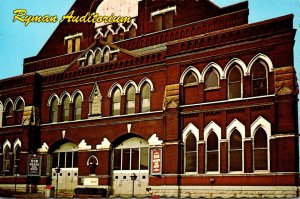 Tennessee Nashvile Ryman Auditorium Home Of The Grand Ole Opry