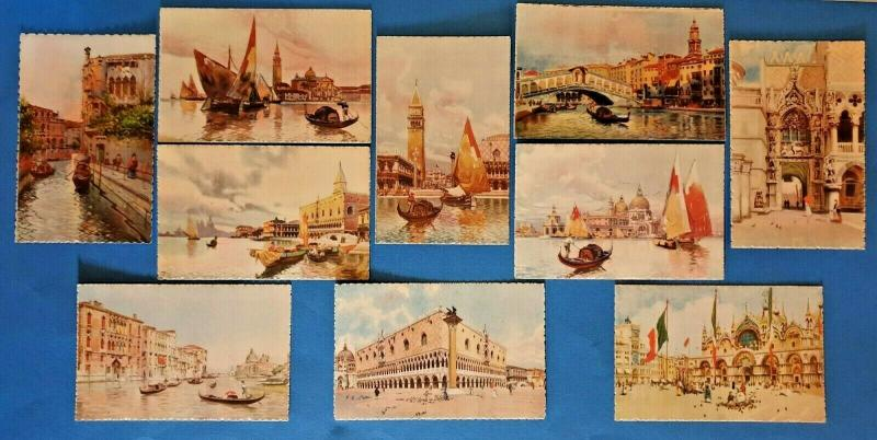 Collection of 10 Vintage Art Postcards of Venice, Venezia, Italy A Scrocchi 54T