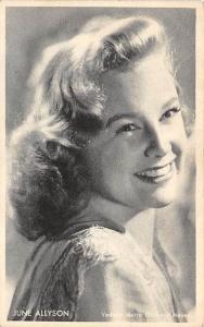 June Allyson Post Card Actress, Movie Star, Postcard Unused