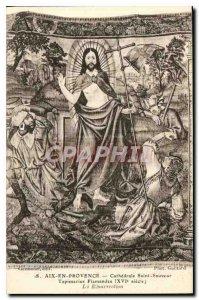 Old Postcard Aix en Provence Cathedrale Saint Sauveur Flemish tapestries XVI ...