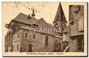 Old Postcard The lllustree Correze Ussel The Church
