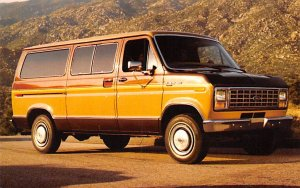 Trucks / Buses /  Vans Post Card 1983 Ford Club Wagon Conshohocken, Pennsylva...