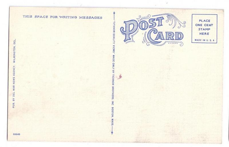 Dover Delaware DE Old Ridgley House Vintage Linen Postcard