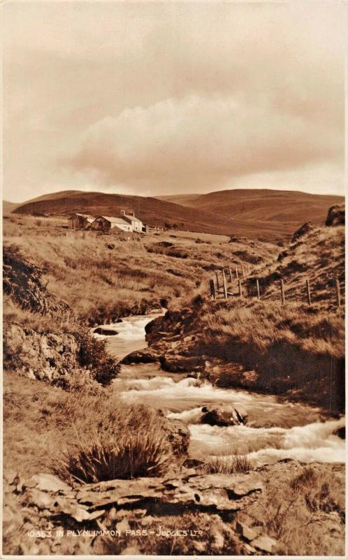 PLYNLIMMON PASS CAMBRIAN MOUNTAINS WALES-JUDGES PHOTO POSTCARD
