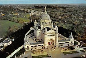 France Lisieux Vue aerienne vers la Basilique Aerial view Basilica