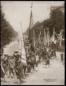 Austria 1908 Kaiser Franz Joseph Huldigungs Festival RPPC Tyrolian Rifles 94848