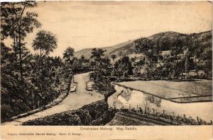 CPA INDONESIA Omstreken Malang. Weg Sebalo (342184)