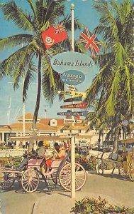 Nassau in the Bahamas Post card Old Vintage Antique Postcard Rawson Square Po...