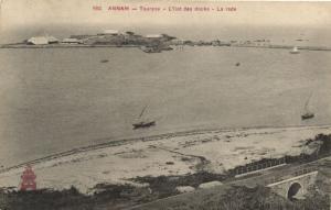 CPA Vietnam Indochine ANNAM Tourane - L'Ilot des docks - La rade (62126)