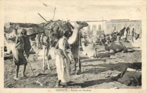 CPA Djibouti Afrique - Retour en Brousse (87047)