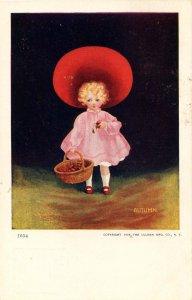 Autumn  Sunbonnet Girl, No. 1654     Artist: Wall