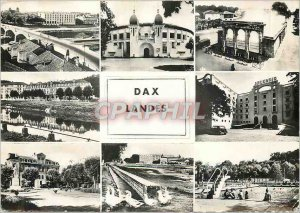 Modern Postcard Dax General view Arenes hot water fountain