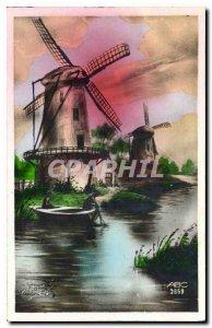 Postcard Old Wind Mills