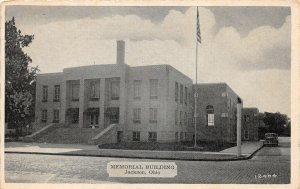 G23/ Jackson Ohio Postcard c1940s Memorial Hall Building  8