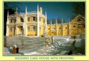 Maine Kennebunkport Wedding Cake House With Frosting