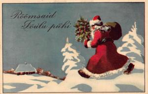 Santa Claus Father Christmas Eesti Estonia Postcard