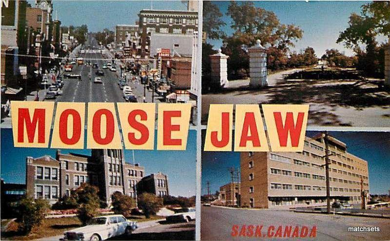 1960's MOOSE JAW CANADA Multi View postcard 9067