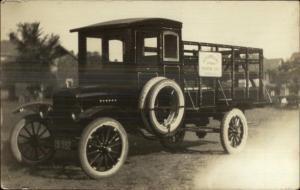 Somerville NJ Rosemount Spring Water Delivery Truck Real Photo Postcard c1915