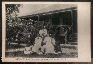 Mint Kabakada Papua New Guinea Real Picture Postcard RPPC Mission Party