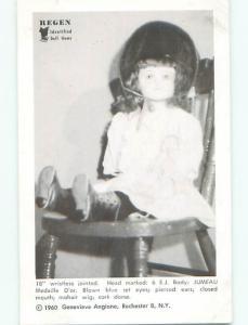 Unused 1960 postcard ANTIQUE JUMEAU MEDAILLE D'OR DOLL k7100