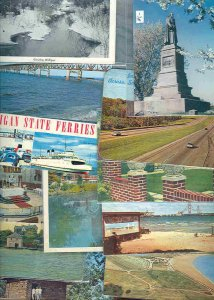cpc197 postcard collection FIFTY Michigan