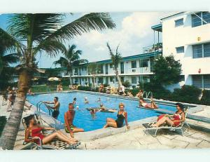 1950's EDWARD JAMES RESORT MOTEL St. Saint Petersburg Florida FL s8548