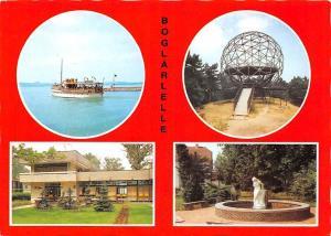 Hungary Boglarlelle multiviews souvenir, terrace, ship, statue