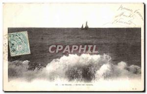 Old Postcard Le Havre Effer Wave