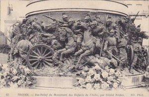 France Troyes Bas-Relief du Monument des Enfants de l'Aube par Desire Br...