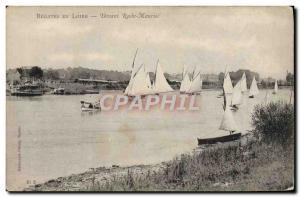 Old Postcard Boat Sailboat Regattas in front Loire Roche Maurice