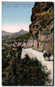 Old Postcard Route Menton Ventimiglia Frontiere Italian Donkey Donkey