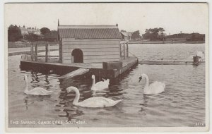 Hampshire; The Swans, Canoe Lake, Southsea PPC By J Welch, Unposted, c 1930's