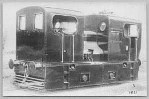 RPPC~Moore's Railway Photograph Series #7821~Sentinel Enclosed Locomotive~c1920
