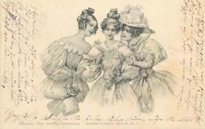 Theo Stroefer elegant women fantasy early 1900s postcard