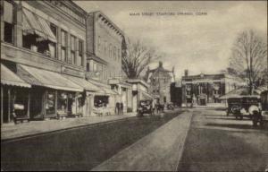 Stafford Springs CT Main Street c1940s Postcard