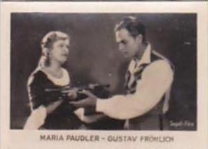 Orami Cigarette Card Film Favourites Series C No 162 Maria  Paudler &  Gus...
