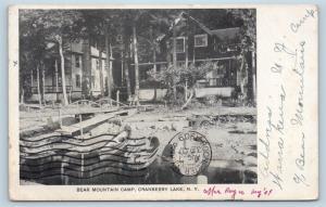 Postcard NY Adirondacks Cranberry Lake Bear Mountain Camp 1909 N8