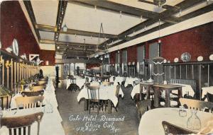 F29/ Chico California Postcard c1910 Café Hotel Diamond Interior
