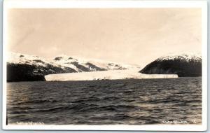 Taku Glacier, Alaska RPPC Photo Postcard Water View - Elite Studio #18 - c1930s