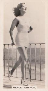Merle Oberon Hollywood Actress Rare Real Photo Cigarette Card