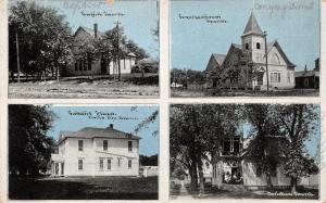 David City Nebraska~Christian & Baptist Church~Catholic School~CU Williams~1910