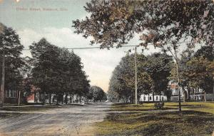 Wausson Ohio~Clinton Street~Unpaved Road~Residential Section~c1910 Postcard