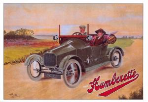 Postcard The Humberette Early Car Series Reproduction Advertising Card